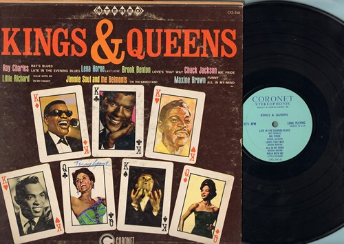 Charles, Ray, Little Richard, Maxine Brown, others - Kings & Queens: Ray's Blues, Funny, Mr. Pride, Last Love, Walk With Me (vinyl STEREO LP record) - NM9/VG7 - LP Records