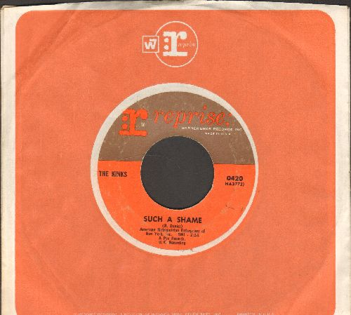 Kinks - Such A Shame/A Well Respected Man (with Reprise company sleeve) - EX8/ - 45 rpm Records