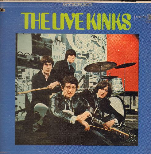 Kinks - The Live Kinks: All Day And All Through The Night, You Really Got Me, Dandy, I'm On An Island (vinyl STEREO LP record, bb in upper lft corner of cover) - NM9/EX8 - LP Records