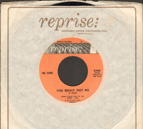 Kinks - You Really Got Me/It's All Right (with Reprise company sleeve) - EX8/ - 45 rpm Records