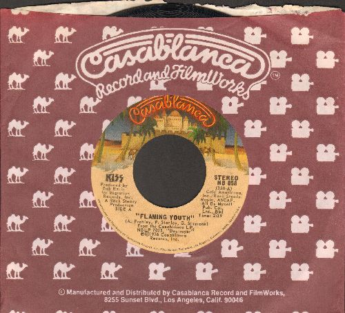 KISS - Flaming Youth/God Of Thunder (with Casablanca company sleeve) - VG7/ - 45 rpm Records