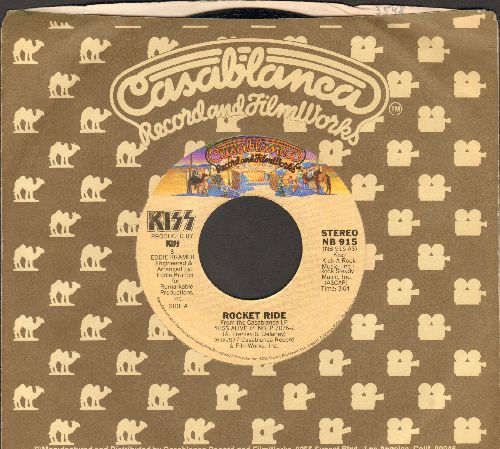 KISS - Rocket Ride/Tomorrow And Tonight (with Casablanca company sleeve) - NM9/ - 45 rpm Records
