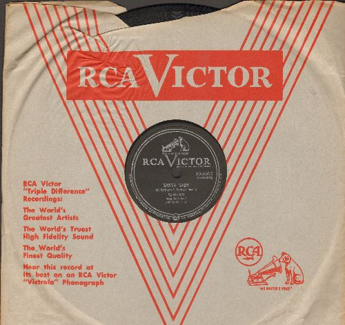 Kitt, Eartha - Santa Baby/Under The Bridges Of Paris (RARE 10 inch 78 rpm record with RCA company sleeve) - EX8/ - 78 rpm