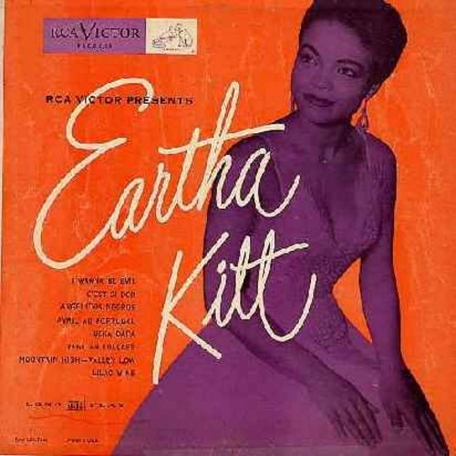Kitt, Eartha - RCA Victor Presents Eartha Kitt: C'est Si Bon, Uska Dara, I Wanna Be Evil, Avril Au Portugal, African Lullaby, Lilac Wine (10 inch vinyl LP record with picture cover) - VG7/VG7 - LP Records