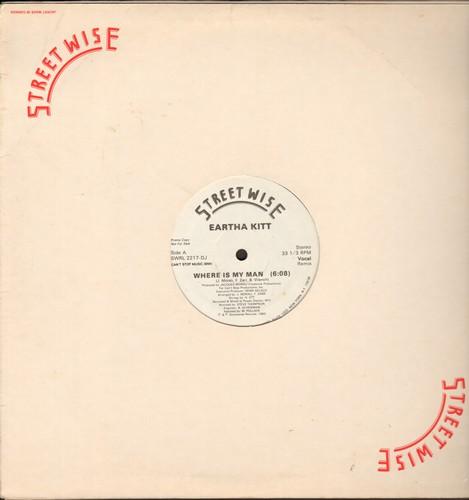 Kitt, Eartha - Where Is My Man (DJ advanced pressing, 2 extended dance mixes on 12 inch maxi single) - NM9/ - Maxi Singles
