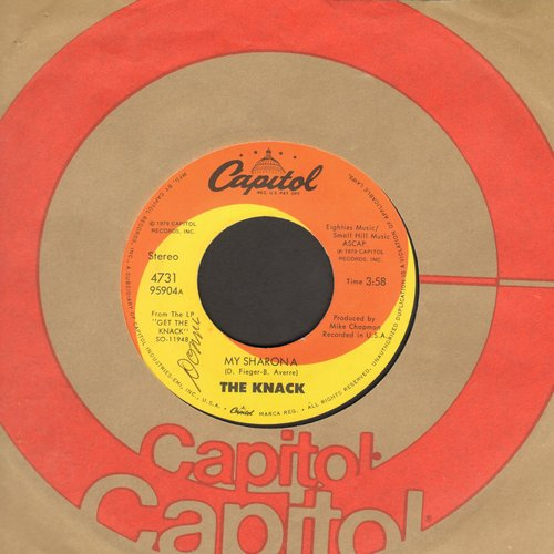 Knack - My Sharona/Let Me Out (Billboard's 1980 Song Of The Year, 6 Weeks at # 1 of US Pop Chart!) (minor wol) - EX8/ - 45 rpm Records