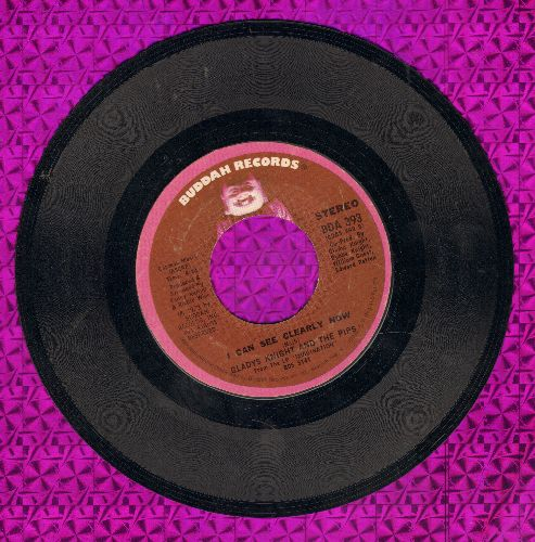Knight, Gladys & The Pips - I Can See Clearly Now/I've Got To Use My Imagination - EX8/ - 45 rpm Records