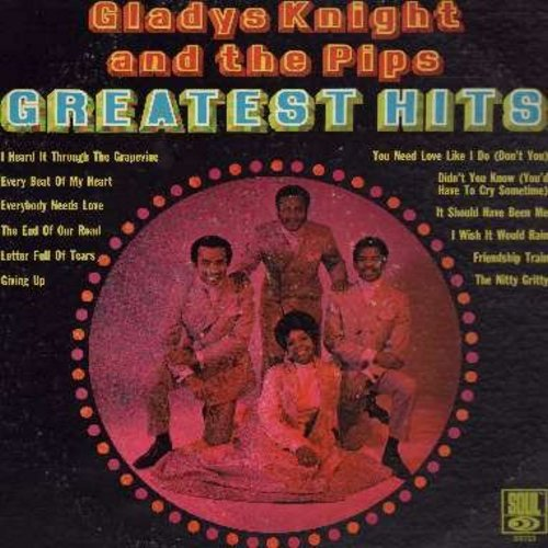 Knight, Gladys & The Pips - Greatest Hits: I Heard It Through The Grapevine, Every Beat Of My Heart, The Nitty Gritty, Friendship Train, The End Of The Road (vinyl STEREO LP record, DJ advance pressing) - NM9/VG7 - LP Records