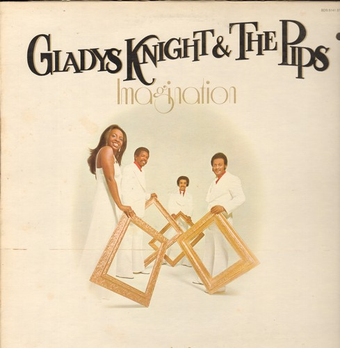 Knight, Gladys & The Pips - Imagination: Midnight Train To Georgia, I Can See Clearly Now, Best Thing That Ever Happned To Me (vinyl STEREO LP record) - EX8/VG7 - LP Records