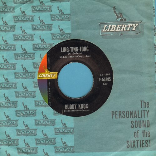 Knox, Buddy - Ling-Ting-Tong/The Kisses (with vintage Liberty company sleeve) - NM9/ - 45 rpm Records