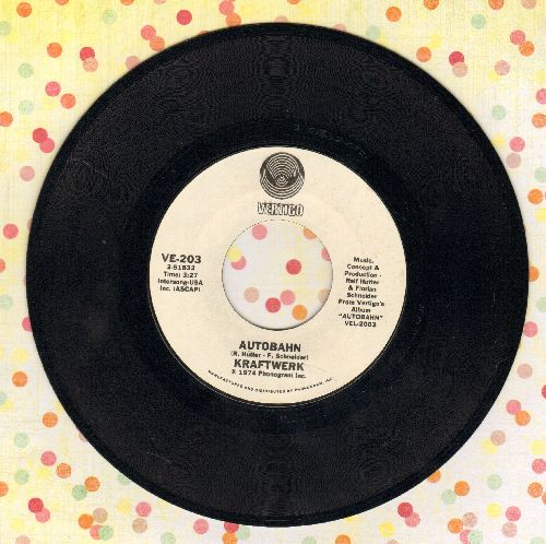 Kraftwerk - Autobahn (PIONEERING Techno-Hit!)/Morgenspaziergang (Morning Walk)  - NM9/ - 45 rpm Records