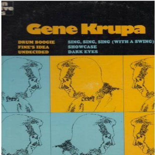 Krupa, Gene - Gene Krupa: Drum Boogie, Undecided, Sing Sing Sing (With A Swing), Dark Eyes (vinyl LP record, re-issue of vintage Big Band recordings) - M10/EX8 - LP Records