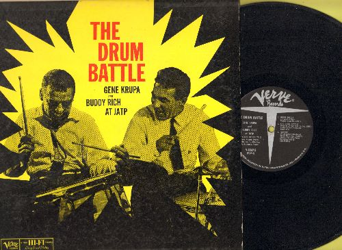 Krupa, Gene & Buddy Rich - The Drum Battle: Idaho, Sophisticated Lady, Flying Home, Drum Boogie, Perdido (vinyl MONO LP record, 1960 first pressing) - EX8/EX8 - LP Records
