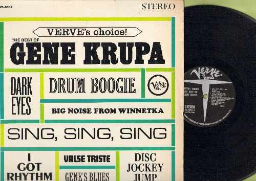 Krupa, Gene - Best Of: Drum Boogie, Sing Sing Sing, Disc Jockey Jump, I Got Rhythm (vinyl STEREO LP record) - EX8/NM9 - LP Records