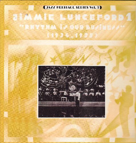 Lunceford, Jimmie & His Orchestra - Jimmie Lunceford 1 - Rhythm Is My Business (1943-1935): Runnin' Wild, Mood Indigo, Stomp It Off (vinyl LP record, re-issue of vintage 1930s Jazz recordings) - NM9/NM9 - LP Records
