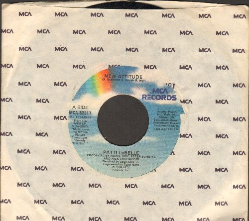 LaBelle, Patti - New Attitude/Shoot Out (by Harry Faltermeyer on flip-side, with MCA company sleeve) (both songs from film -Beverly Hills Cop-) - EX8/ - 45 rpm Records