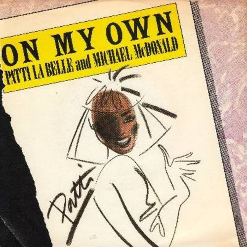 LaBelle, Patti & Michael McDonald - On My Own/Stir It Up (with picture sleeve) - NM9/EX8 - 45 rpm Records