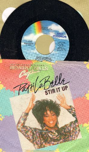 LaBelle, Patti - Stir It Up/The Discovery (by Harold Faltermeyer on flip-side) (with picture sleeve) - NM9/VG7 - 45 rpm Records
