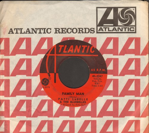 LaBelle, Patti & The Bluebelles - Family Man/I'm Still Waiting (with vintage Atlantic company sleeve) - VG6/ - 45 rpm Records