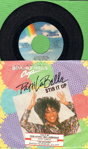 LaBelle, Patti - Stir It Up/The Discovery (by Harold Faltermeyer on flip-side) (with picture sleeve and juke box label) - VG7/EX8 - 45 rpm Records
