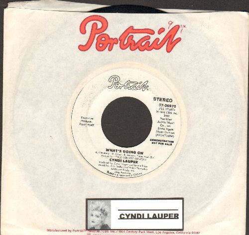 Lauper, Cyndi - What's Going On (double-A-sided DJ advance pressing with company sleeve) - NM9/ - 45 rpm Records
