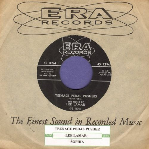 Lamar, Lee - Teenage Pedal Pushers/Sophia (with RARE vintage ERA company sleeve) - NM9/ - 45 rpm Records