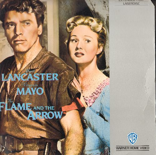 Flame And The Arrow - The Flame And The Arrow - LASER DISC of the 1950 Classic Costume Drama starring Burt Lancaster and Virginai Mayo (This is a LASER DISC, not any other kind of media!) - NM9/VG7 - Laser Discs