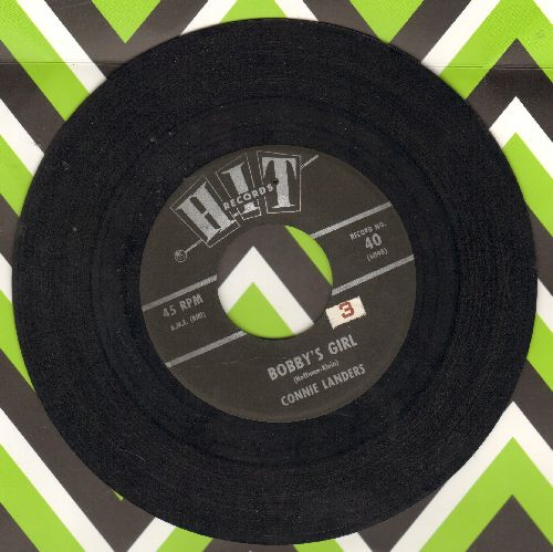 Landers, Connie - Bobby's Girl/Ride (by Peggy Gaines on flip-side) (contemporary cover versions of hits) - EX8/ - 45 rpm Records