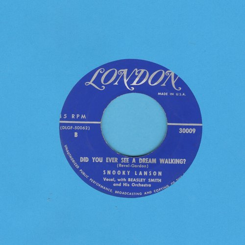 Lanson, Snooky - Did You Ever See A Dream Walking?/The Old Master Painter - EX8/ - 45 rpm Records