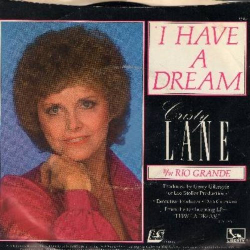 Lane, Cristy - I Have A Dream (VERY nice version of the ABBA Hit)/Rio Grande (with picture sleeve, song lyrics on back of sleeve) - NM9/EX8 - 45 rpm Records