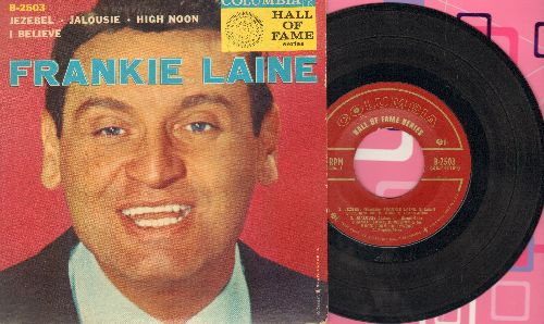 Laine, Frankie - Jezebel/Jalousie/High Noon/I Believe (vinyl EP record with picture cover) - EX8/EX8 - 45 rpm Records