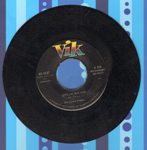 Laurie Sisters - Give Me One Kiss/Shame On You Georgie - EX8/ - 45 rpm Records