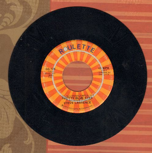Lawrence, Steve - Pretty Blue Eyes/Footsteps (double-hit re-issue) - EX8/ - 45 rpm Records