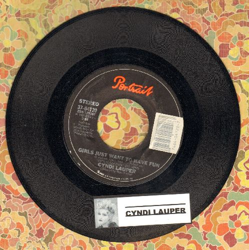 Lauper, Cyndi - Girls Just Want To Have Fun/Right Track Wrong Train  - EX8/ - 45 rpm Records