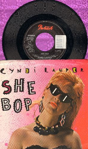 Lauper, Cyndi - She Bop/Witness (with picture sleeve) - NM9/EX8 - 45 rpm Records