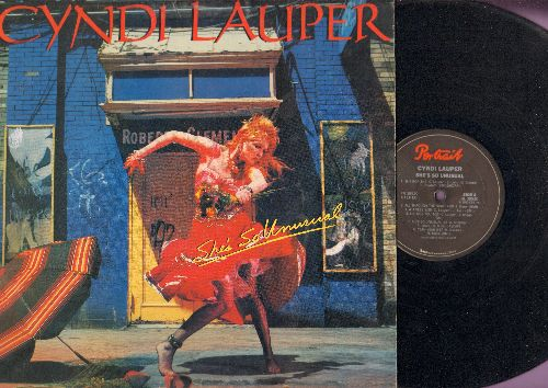 Lauper, Cyndi - She's So Unusual: Girls Just Want To Have Fun, Time After Time, She Bop, All Through The Night (vinyl STEREO LP record) - EX8/VG7 - LP Records