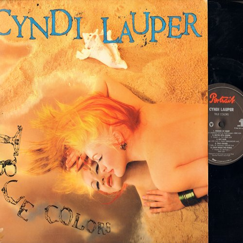 Lauper, Cyndi - True Colors: What's Going On, Change Of Heart, Iko Iko, Boy Blue (vinyl STEREO LP record) - NM9/NM9 - LP Records