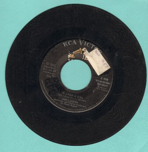Lauren, Rod - If I Had A Girl/No Wonder (sol) - VG6/ - 45 rpm Records
