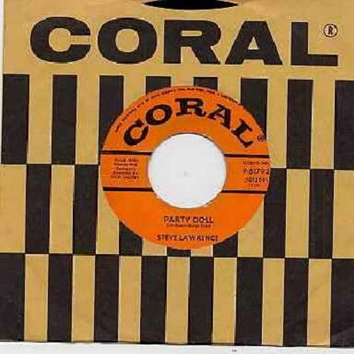Lawrence, Steve - Party Doll/(The Bad Donkey) Pum-Pa-Lum (with vintage Coral company sleeve) - EX8/ - 45 rpm Records