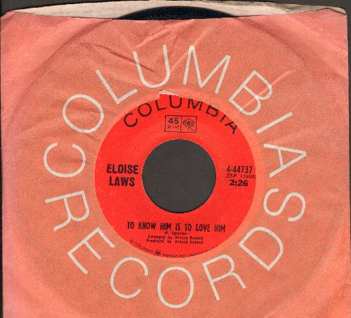 Laws, Eloise - To Know Him Is To Love Him/I'd Do It All Again (with Columbia company sleeve) - NM9/ - 45 rpm Records