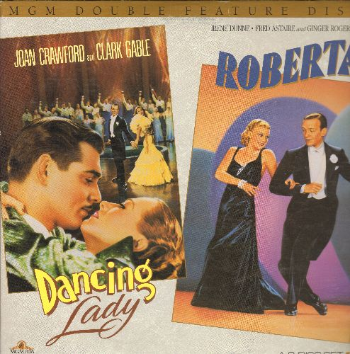 Dancing Lady & Roberta - Dancing Lady/Roberta - MGM Double Feature - Laser Discs of two Classic MGM Musical, in gate-fold album, NICE cover art! (This is a LASER DISC Movie Set, NOT any other kind of media!) - NM9/NM9 - Laser Discs