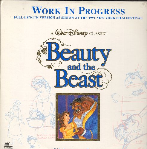 Disney - Disney's Beauty & The Beast Letterbox Double LASER DISC VERSION - Work In Progress Shown and 1991 New York Film Festival (Unfinished Version Before General Nationwide Release) - NM9/EX8 - Laser Discs