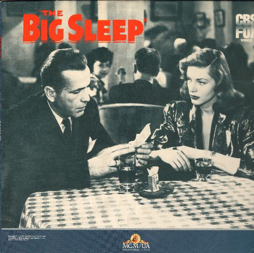 Big Sleep - The Big Sleep Laser Disc starring Humphrey Bogart and Lauren Bacall - NM9/EX8 - Laser Discs