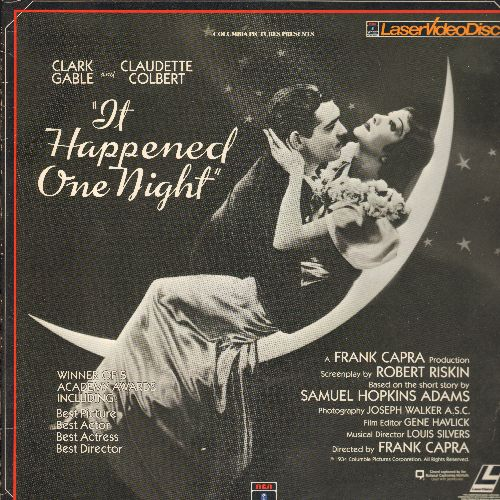 It Happened One Night - It Happened One Night - Laser Disc Version of the Oscar Winning Classic Starring Clark Gable and Claudette Colbert - NM9/EX8 - Laser Discs