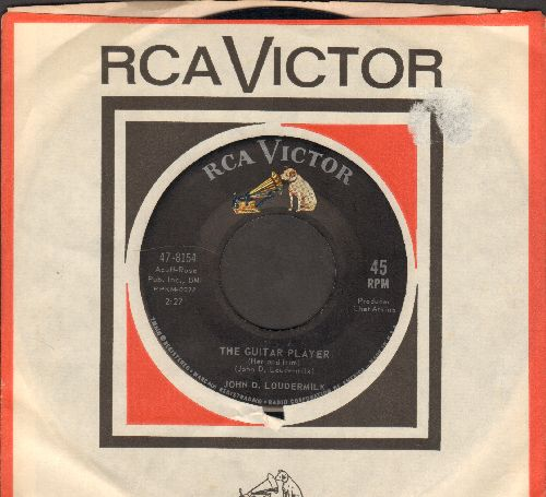 Loudermilk, John D. - Bad News/The Guitar Player (with vintage RCA company sleeve) - NM9/ - 45 rpm Records
