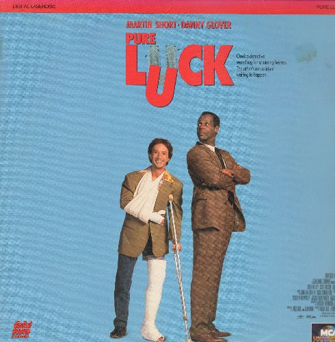 Pure Luck - Pure Luck LASER DISC VERSION Martin Short and Danny Glover (soc) - NM9/NM9 - Laser Discs