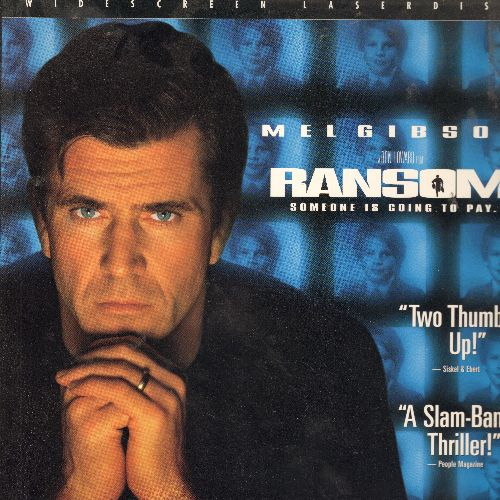 Ransom - Ransom LASER DISC VERSION Starring Mel Gibson - NM9/EX8 - Laser Discs