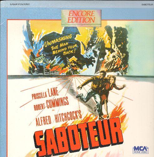 Saboteur - Saboteur LASER DISC VERSION directed by Alfred Hitchcock's Starring Priscilla Lane and Robert Cummings - NM9/NM9 - Laser Discs