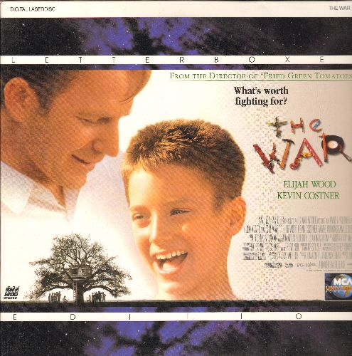 WAR - The War Letterbox Double LASER DISC VERSION Starring Kevin Kostner and Elijah Wood - NM9/NM9 - Laser Discs