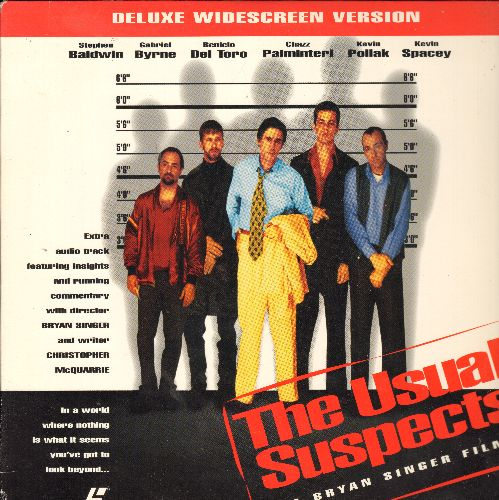 Usual Suspects - The Usual Suspects LASER DISC VERSION Starring Stepehn Baldwin, Kevin Pollak and Keven Spacey - NM9/EX8 - Laser Discs